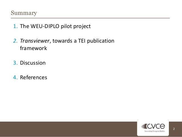 TEI Conference - CVCE Slide 2