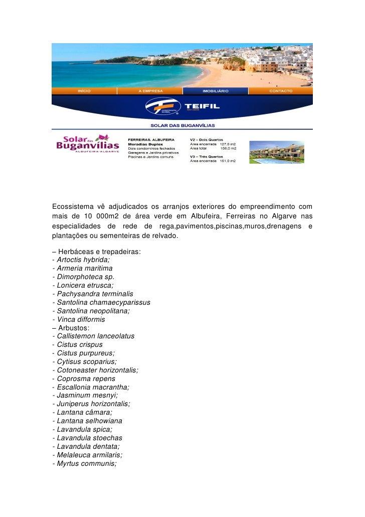 Ecossistema vê adjudicados os arranjos exteriores do empreendimento commais de 10 000m2 de área verde em Albufeira, Ferrei...