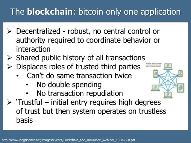 Citi Application Status >> Blockchains: Bitcoin was always so much more
