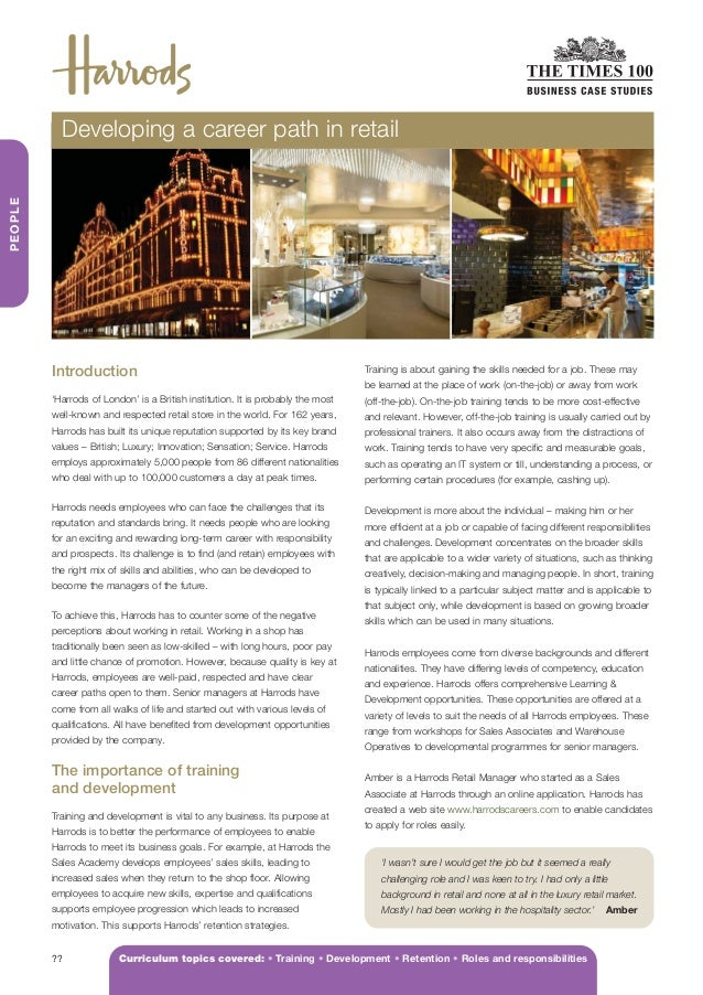 HARRODS V3 AW      5/3/12     15:49     Page 2            Developing a career path in retail PEOPLE          Introduction ...