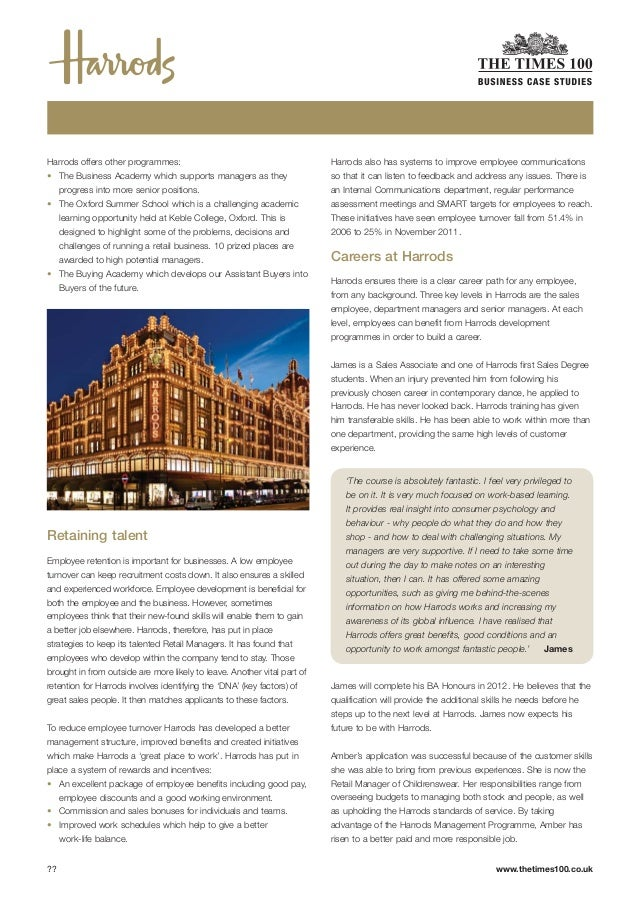 harrods case study Btt 1o1 social media case study increasing brand awareness through social media communications introduction voted 'luxury retailer of the year' in 2013, harrods is a.
