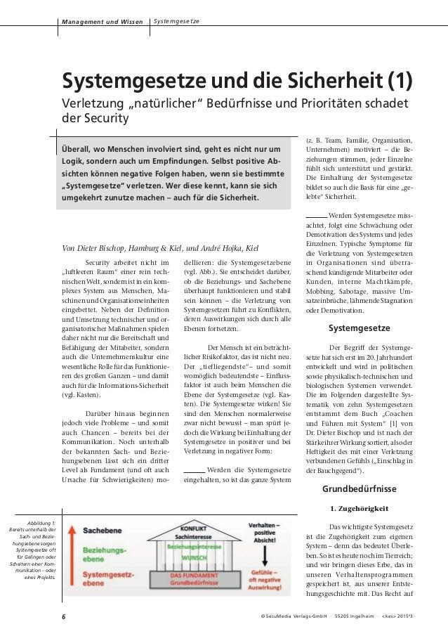 """6 © SecuMedia Verlags-GmbH · 55205 Ingelheim · <kes> 2015# 3 Security arbeitet nicht im """"luftleeren Raum"""" einer rein tech-..."""