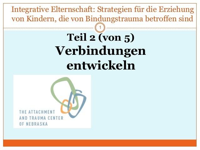 Integrative Elternschaft: Strategien für die Erziehung von Kindern, die von Bindungstrauma betroffen sind Teil 2 (von 5) V...