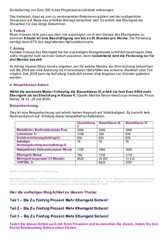 Teil 3 – bis zu fünfzig prozent mehr elterngeld sichern! Slide 2