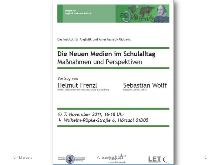 Uni Marburg   Vortrag 7.11.2011   1