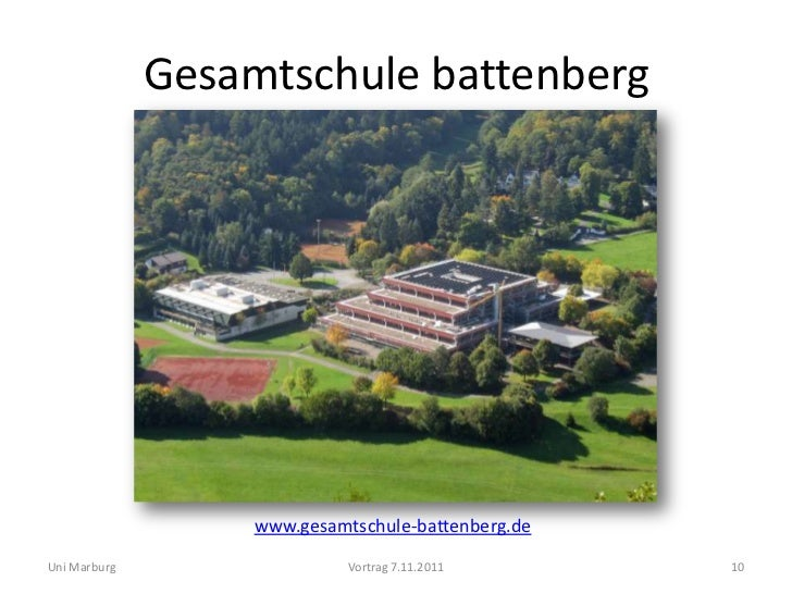 Gesamtschule battenberg                   www.gesamtschule-battenberg.deUni Marburg                  Vortrag 7.11.2011    ...