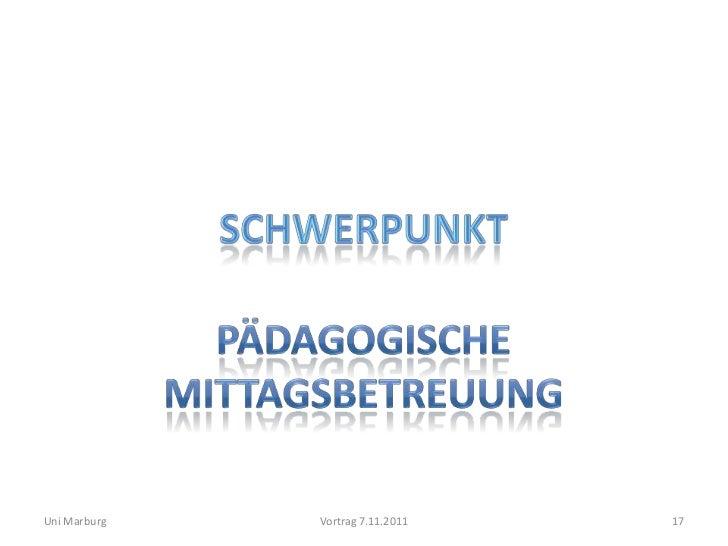 Uni Marburg   Vortrag 7.11.2011   17