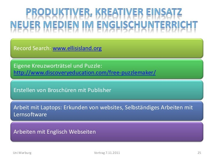 Record Search: www.ellisisland.orgEigene Kreuzworträtsel und Puzzle:http://www.discoveryeducation.com/free-puzzlemaker/Ers...