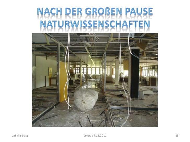 Uni Marburg   Vortrag 7.11.2011   28