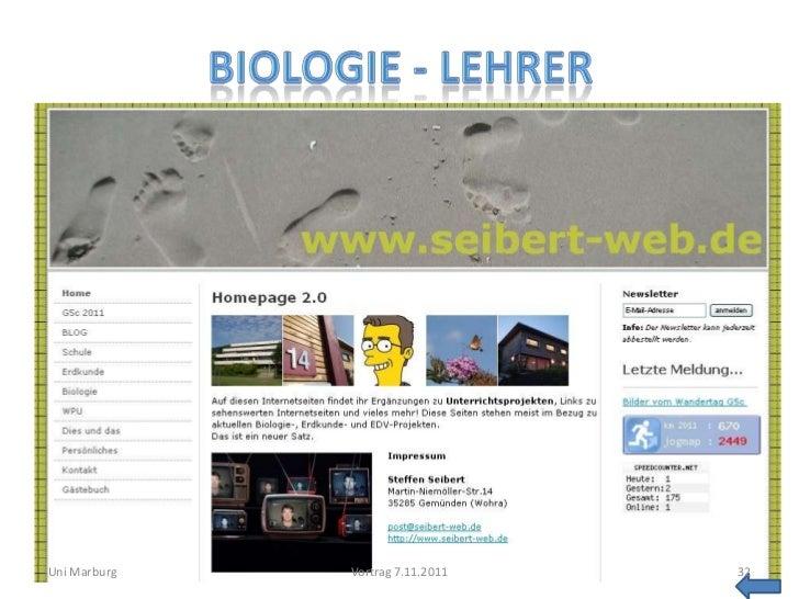 Uni Marburg   Vortrag 7.11.2011   32