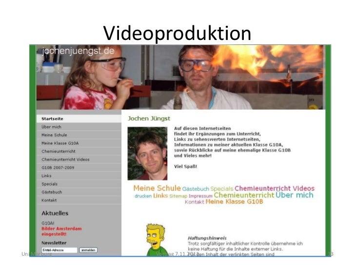 VideoproduktionUni Marburg        Vortrag 7.11.2011   33
