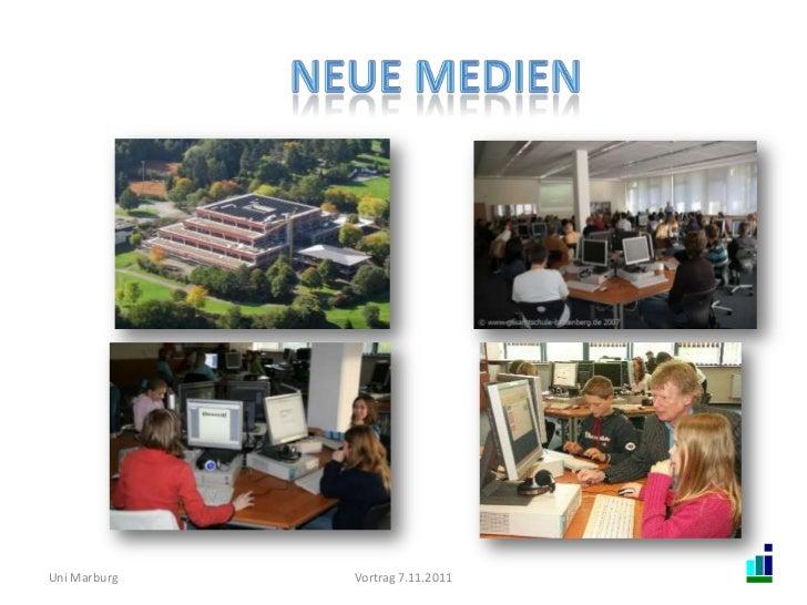 Uni Marburg   Vortrag 7.11.2011