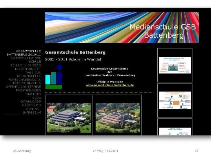 Uni Marburg   Vortrag 7.11.2011   44