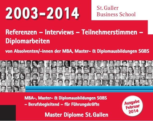 Referenzen – Interviews – Teilnehmerstimmen – Diplomarbeiten von Absolventen/-innen der MBA, Master- & Diplomausbildungen ...