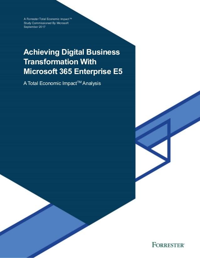 TEI of Microsoft 365 E5