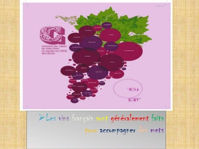 Les vins français sont généralement faits pour accompagner des mets