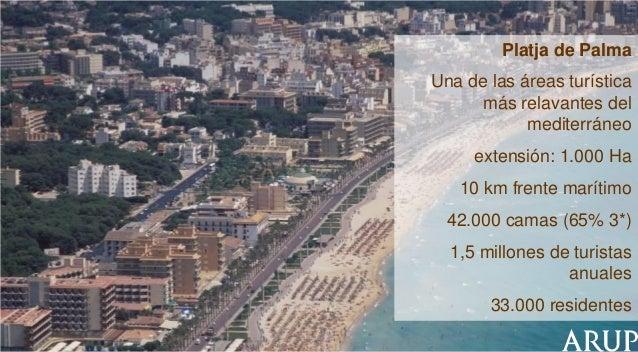 Platja de Palma Una de las áreas turística más relavantes del mediterráneo extensión: 1.000 Ha  10 km frente marítimo 42.0...