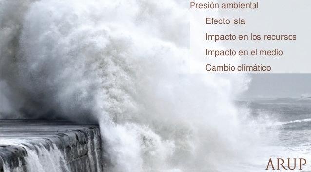 Presión ambiental  Efecto isla Impacto en los recursos  Impacto en el medio Cambio climático