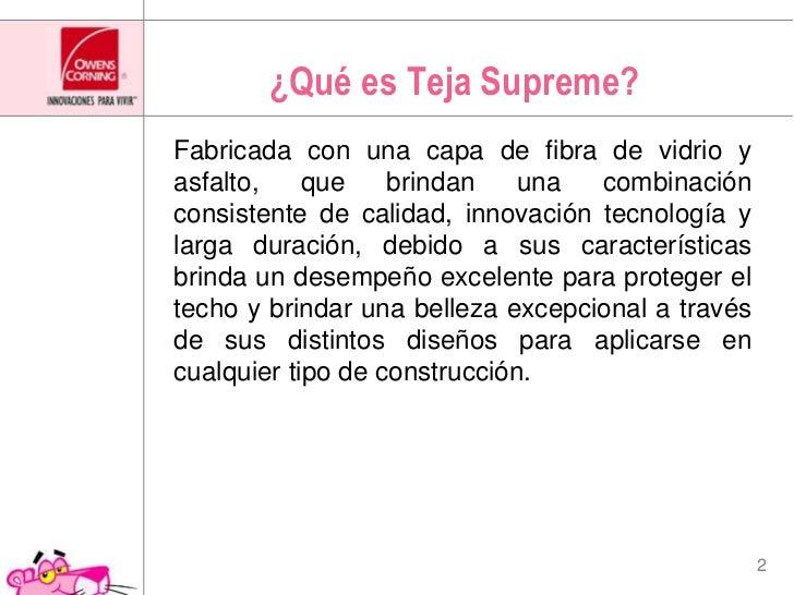 ¿Qué es Teja Supreme?<br />Fabricada con una capa de fibra de vidrio y asfalto, que brindan una combinación consistente de...