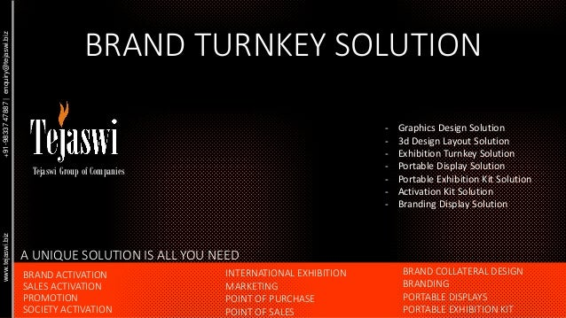BRAND TURNKEY SOLUTION - Graphics Design Solution - 3d Design Layout Solution - Exhibition Turnkey Solution - Portable Dis...