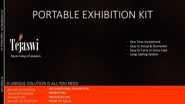 PORTABLE EXHIBITION KIT - One Time Investment - Easy to Setup & Dismantle - Easy to Carry in Carry Case - Long Lasting Sys...