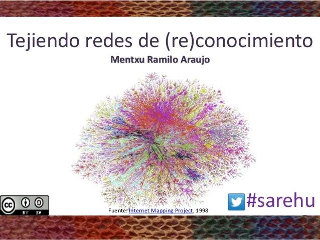 Tejiendo redes de (re)conocimiento Mentxu Ramilo Araujo #sarehuFuente: Internet Mapping Project, 1998