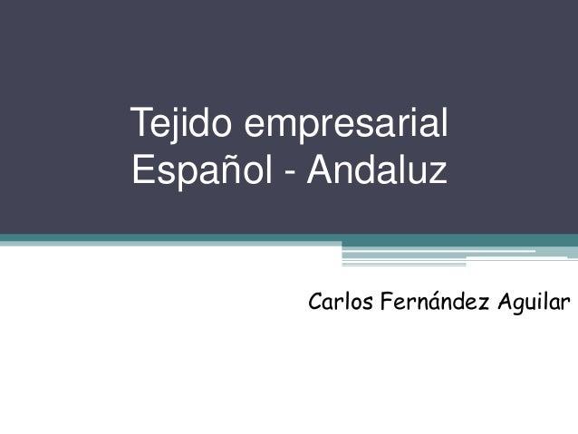 Tejido empresarial  Español - Andaluz  Carlos Fernández Aguilar