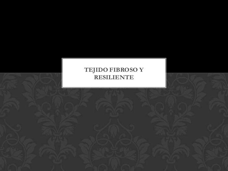 TEJIDO FIBROSO Y  RESILIENTE