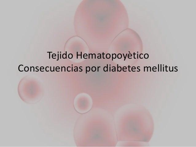 Tejido hematopoyetico en diabetes m.