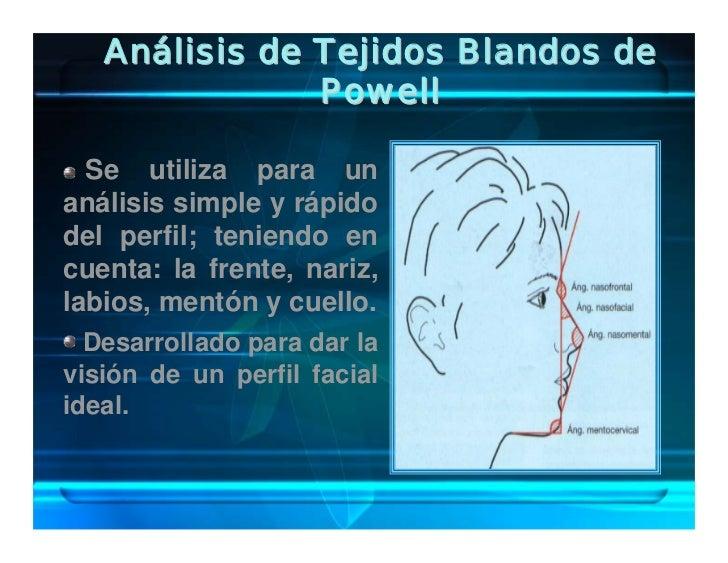 Análisis de Tejidos Blandos de                Powell    Se utiliza para un análisis simple y rápido del perfil; teniendo e...