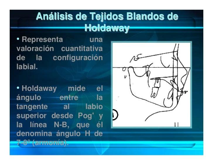 Análisis de Tejidos Blandos de                 Holdaway • Representa       una valoración cuantitativa de la configuración...