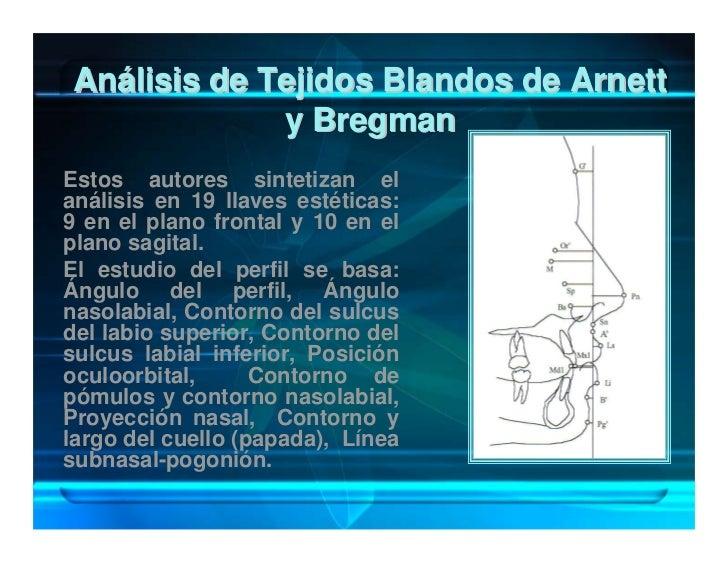 Análisis de Tejidos Blandos de Arnett              y Bregman Estos autores sintetizan el análisis en 19 llaves estéticas: ...