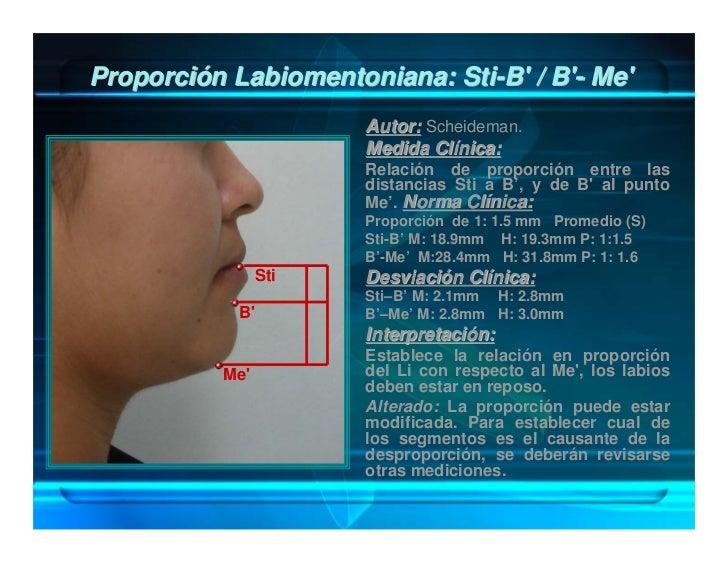 Proyección Anteroposterior del Mentón con        Relación a Glabela: G - Pog'                  Autor: Scheideman.         ...