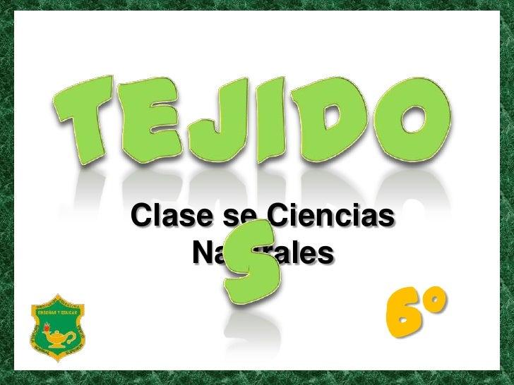 Tejidos<br />Clase se Ciencias Naturales <br />6°<br />
