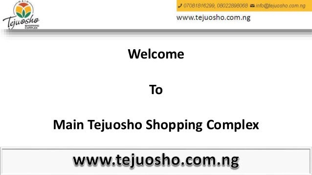 Welcome To Main Tejuosho Shopping Complex