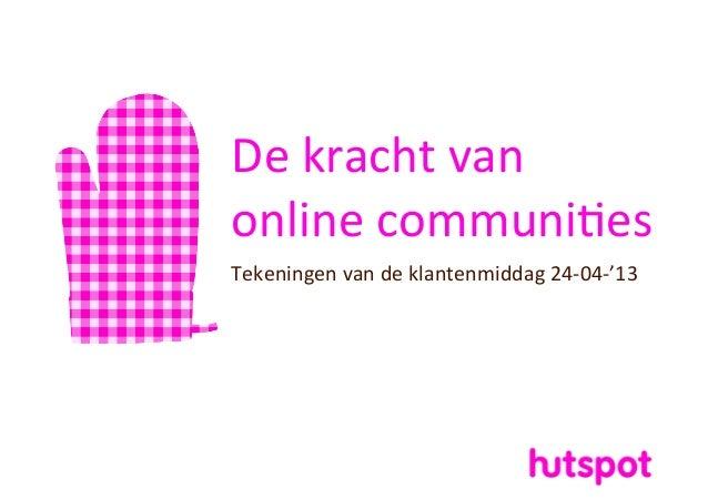 De kracht van online communi1esTekeningen van de klantenmiddag 24-‐04-‐'13