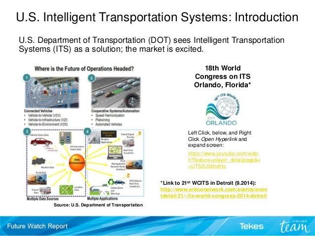 U.S. Intelligent Transportation Systems – Trends, Signals & Cases. Te…