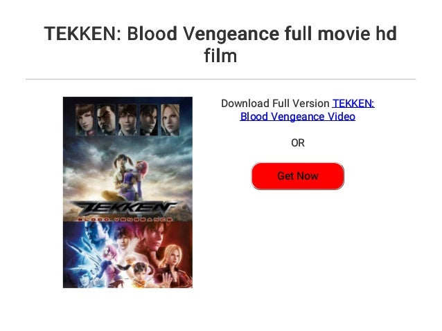 Tekken Blood Vengeance Full Movie Hd Film
