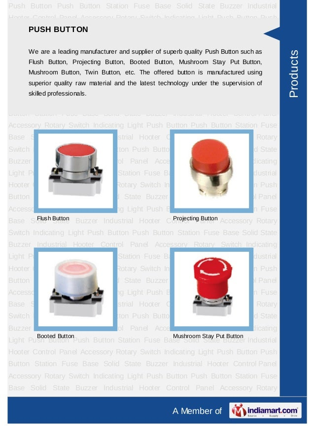 Push Button Push Button Station Fuse Base Solid State Buzzer IndustrialHooter Control Panel Accessory Rotary Switch Indica...