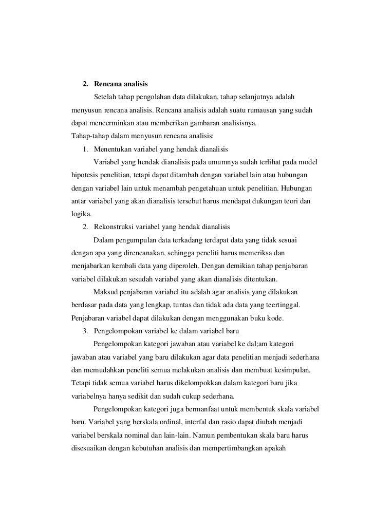 Contoh Skripsi Teknik Analisis Data Kuantitatif Deskriptif Kumpulan Berbagai Skripsi