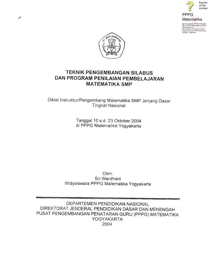 Signatu                        re Not                        VerifiedPPPGMatematikaDigitally signed by PPPG MatematikaDN: ...