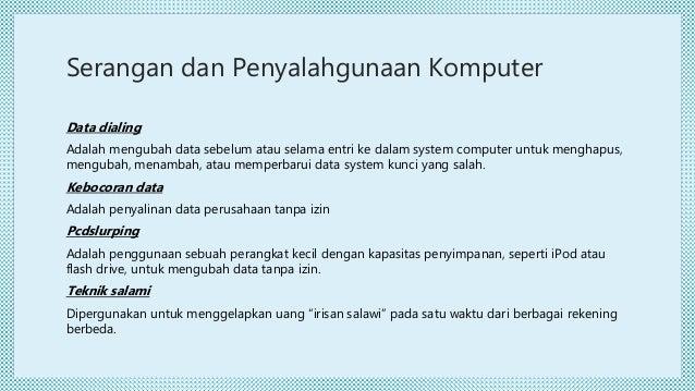 Teknik Penipuan Dan Penyalahgunaan Komputer1
