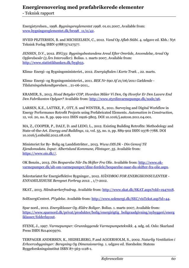 Afgangsprojekt bygningsingeniør - Teknisk rapport
