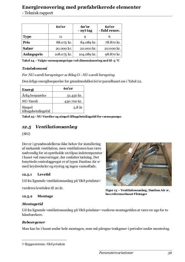 Energirenovering med præfabrikerede elementer - Teknisk rapport 60'er  60'er - fuld renov.  11  Type  60'er - nyt tag 9  6...