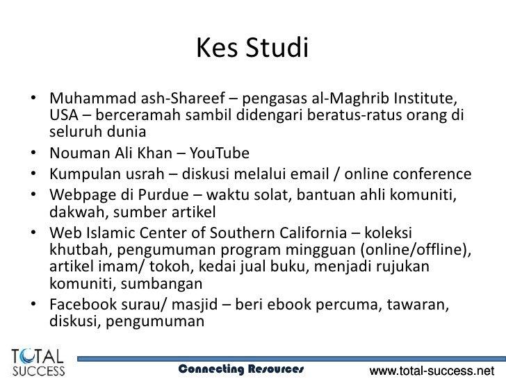 Kes Studi• Muhammad ash-Shareef – pengasas al-Maghrib Institute,  USA – berceramah sambil didengari beratus-ratus orang di...