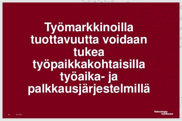 Teknologiateollisuuden ja Suomen tilanne, marraskuu 2015