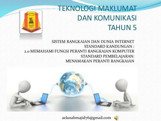 Teknologi Maklumat Dan Komunikasi Tahun 5