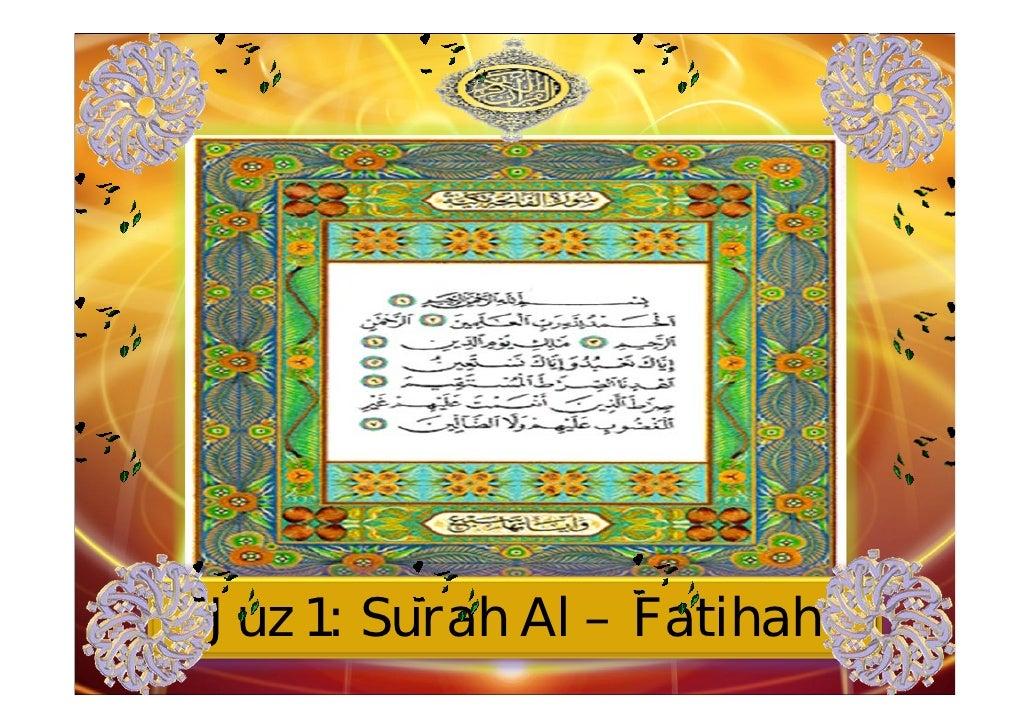 Juz 1: Surah Al – Fatihah