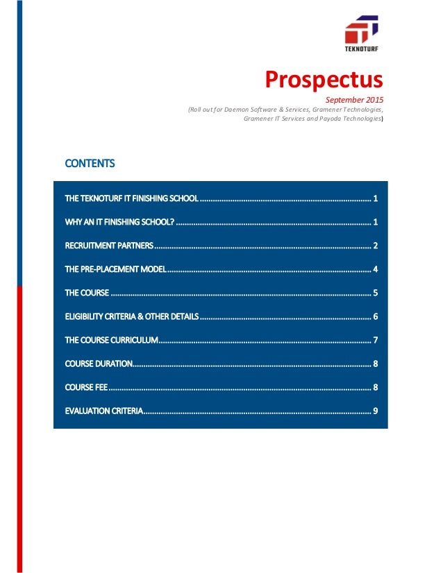 Prospectus September 2015 (Roll out for Daemon Software & Services, Gramener Technologies, Gramener IT Services and Payoda...