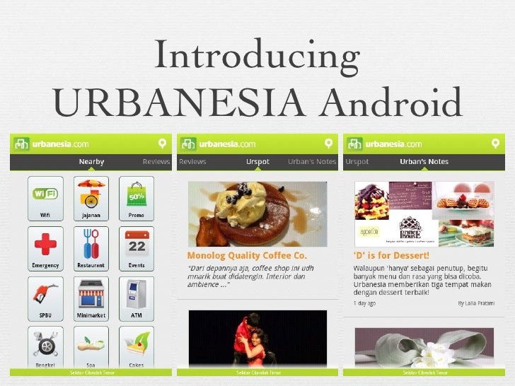Introducing URBANESIA Android